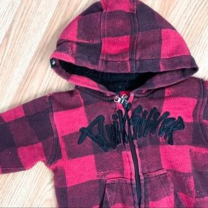 Quiksilver • Plaid Faux Sherpa Lined Sweater